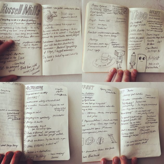 Sketchbook: OFFSET 2016 Notes